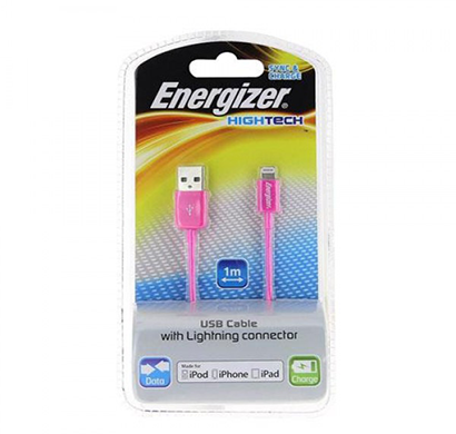 energizer hightech usb cable data + charge for iphone 5 - 1m - pink