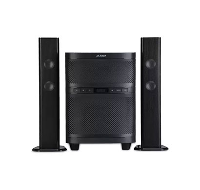 f&d t-200x 70w bluetooth tower speaker (black, 2.1 channel)