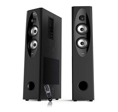 f&d t-60x 110w bluetooth tower speaker (black, 2.0 channel)