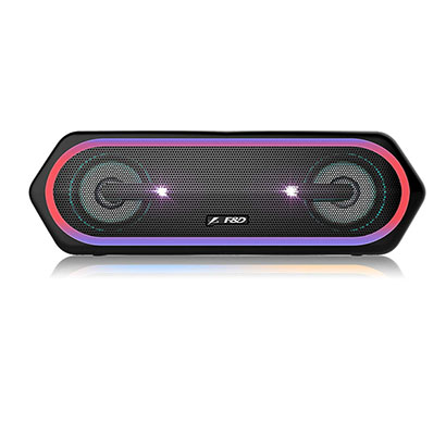 f&d w40 20w bluetooth speaker (black, stereo channel)