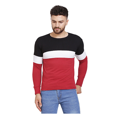 fashnet (fid0007) solid cotton round neck regular full sleeve men's t-shirt (multicolor)