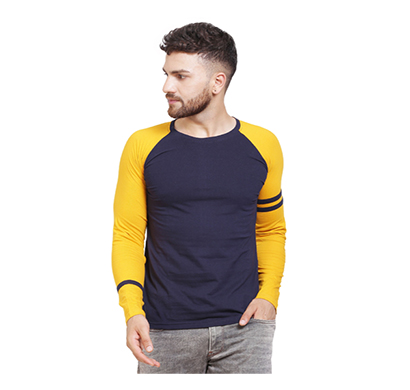 fashnet (fid0013) solid cotton round neck regular full sleeve men's t-shirt (multicolor)