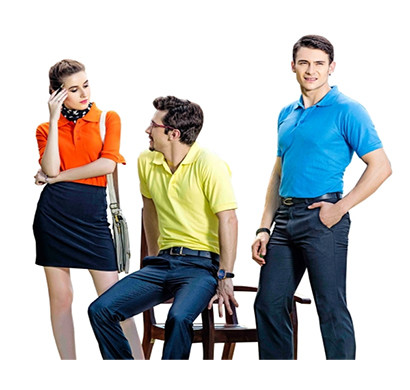 finix collar h/s t-shirts orange,yellow and blue colour