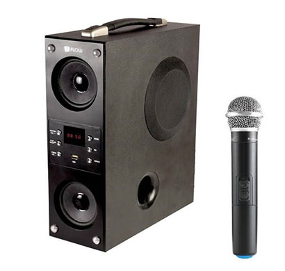 flow mini boombox karoke (40 w) bluetooth tower speaker