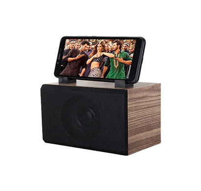 flow amaze bluetooth home audio speaker with mobile stand