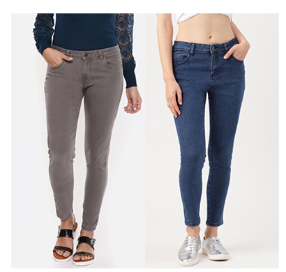 for you for me (maa-silky grbas) women western wear - western bottomwear - jeans -regular (grey and basic)