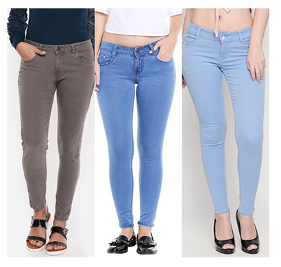 for you for me (maa-silky grbaib) women western wear - western bottomwear - jeans -regular (grey, bata and ice)