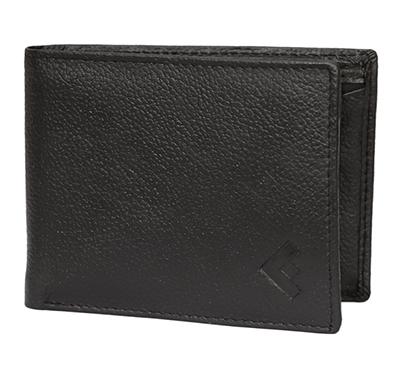 fustaan men genuine pdm leather wallet (black)