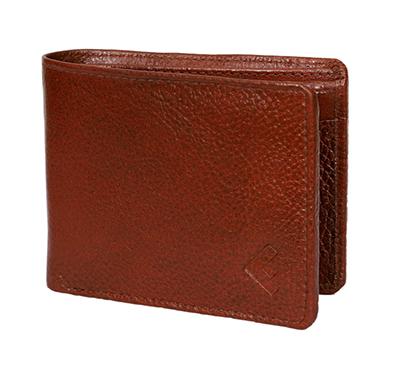 fustaan men genuine two-tone leather wallet (brown)