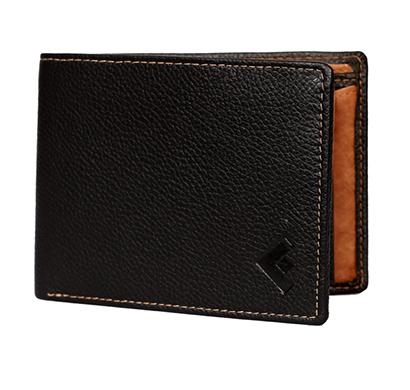 fustaan men genuine leather wallet (black)