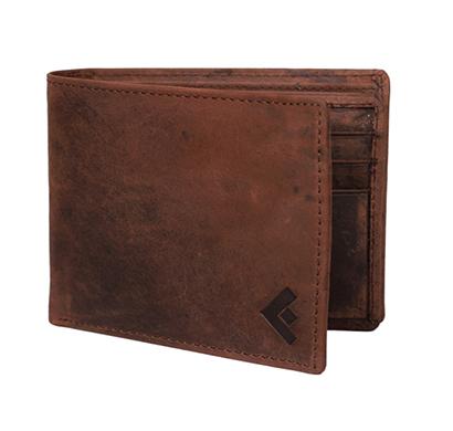 fustaan men genuine hunter leather men wallet (brown)
