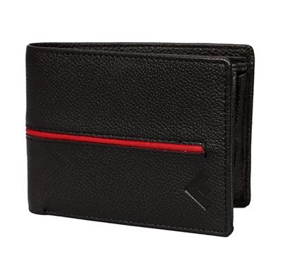 fustaan men genuine leather designer men wallet (black)