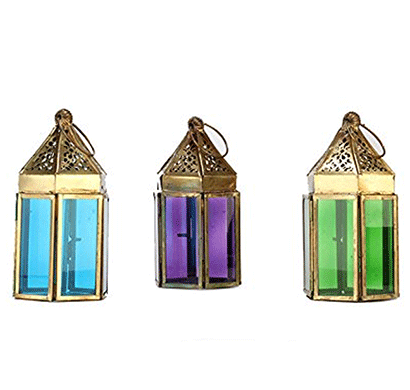 giftease mahir & bros manufacture and exporters iron lantern mblw00223 (pack of 3)