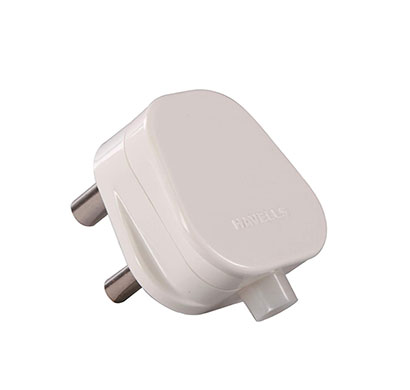 havells reo 6a three pin plug (white)