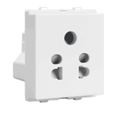 havells (acvksww065) crabtree verona 6a five pin socket (white)
