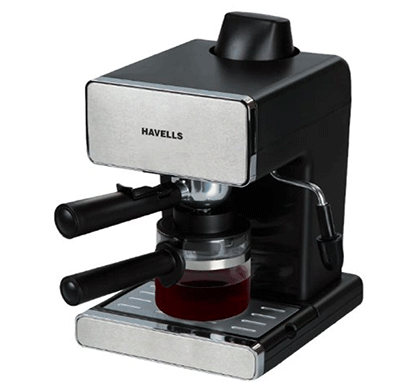 havells donato espresso 800-watt stainless steel coffee maker (black)