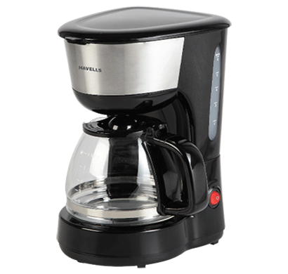 havells drip cafe n6 6 cup, 600w filter coffee maker black
