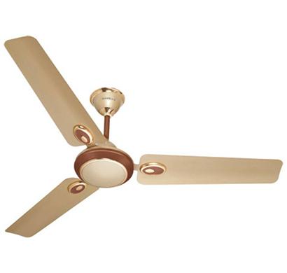 havells fusion -50, 5 star advantage 3 blade ceiling fan, gold, 1 year warranty