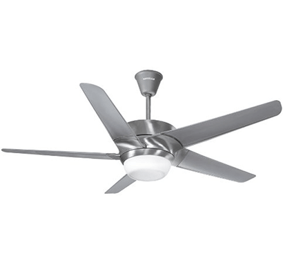 havells- lumos, 1320mm premium underlight ceiling fan, brushed aluminium, 1 year warranty