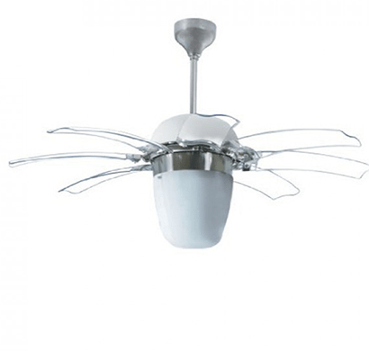 havells- opus, 1100mm ceiling fan with remote, brushed nickel, 1 year warranty