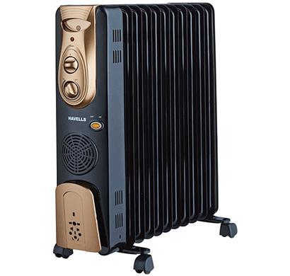 havells ofr - 13fins 2900-watt ptc fan heater (black)