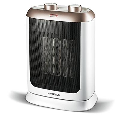 havells calido - gold - 2000w, ptc fan heater (white & gold)