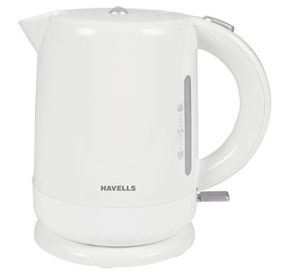 havells aqua 1500-watt 1.0l cordless kettle (white)