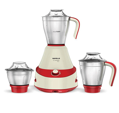 havells energia mixer grinder 500 w red - white