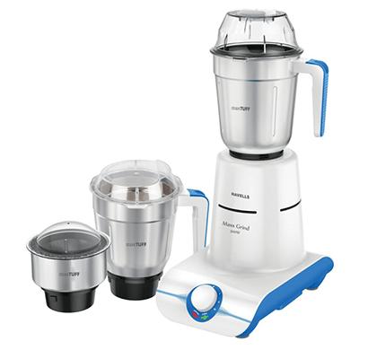 havells maxx grind mixer grinder 500w blue & white
