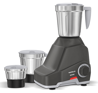 havells genie mixer grinder 500w dark grey