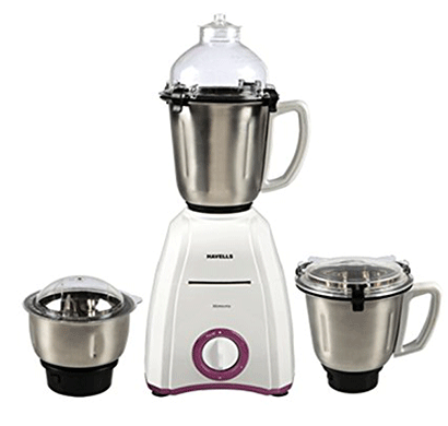 havells momenta 750-watt mixer grinder (lavender and white)