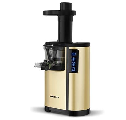 havells nutrisense 150w cold press slow juicer(golden-black)