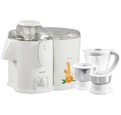 havells endura ghfjmahw050 500-watt juicer mixer grinder white