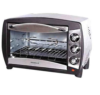 havells 24 ltr 24 rss otg 1500 watt stainless steel oven (silver)