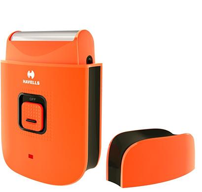 havells - ps7001 rechargeable pocket shaver for men, orange, 1 year warranty