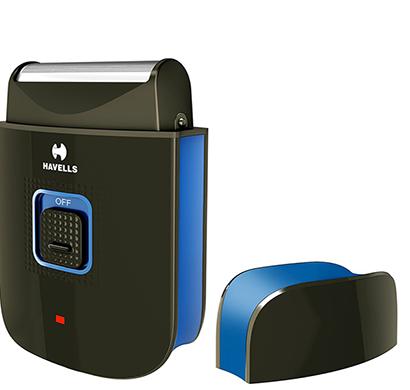 havells - ps7002 rechargeable pocket shaver for men, black, 1 year warranty
