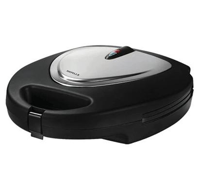 havells toastino stainless steel multigrill sandwich maker 800w (black)