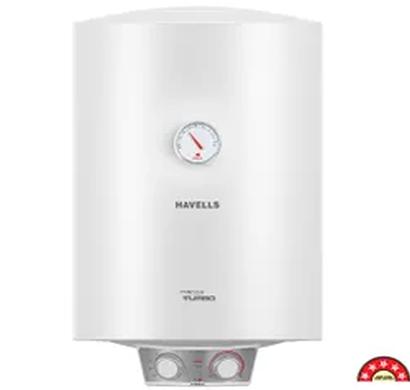 havells - ghwamtswh035, 35ltr monza turbo storage water heater, white, 1 year warranty