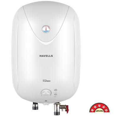 havells - ghwapttwh015, 15 ltr white puro turbo storage water heater, 1 year warranty