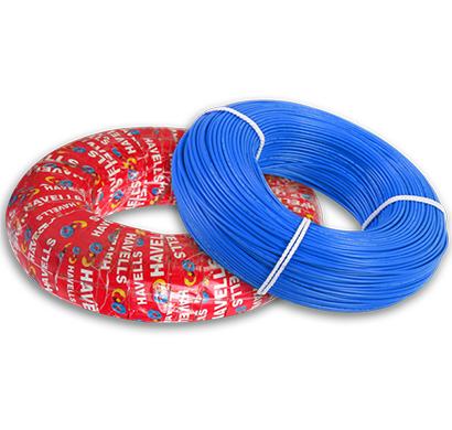 havells- heat-180-blue6x0, life line plus s3 hrfr heat cables 6.0 sqmm, 180 mtr, blue, 1 year warranty