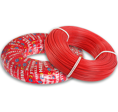 havells- heat-180-red2x5, life line plus s3 hrfr cables 2.5 sqmm heat cable, 180 mtr, red, 1 year warranty