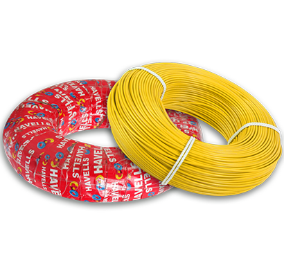 havells - heat-180-yellowx50, life line plus s3 hrfr cables 0.5 sqmm heat cable, 180 mtr, yellow, 1 year warranty