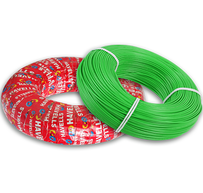 havells - heat-180-greenx50, life line plus s3 hrfr cables 0.5 sqmm heat cable, 180 mtr, green, 1 year warranty