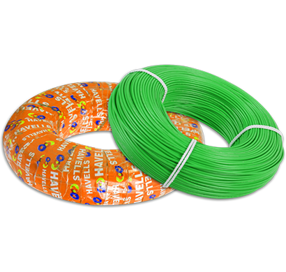 havells - whffzngl16x0, life shield hffr cables 6.0 sqmm, halogen free flame retardant 180 mtr, green, 1 year warranty