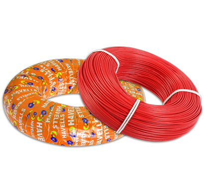 havells- whffznrl12x5,life shield hffr cables 2.5 sqmm, halogen free flame retardant 180 mtr, red, 1 year warranty