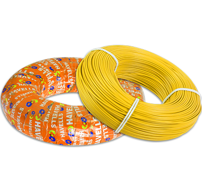 havells - whffznyl12x5, life shield hffr cables 2.5 sqmm, halogen free flame retardant 180 mtr, yellow, 1 year warranty