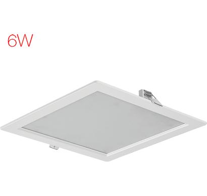 havells- lhebmdp5uz1w006, fazer square 6w, warm daylight, 1 year warranty