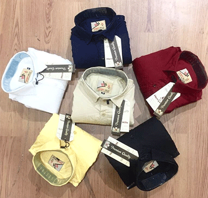 henry hills hh-40 cotton full sleeves men's shirt khari printed