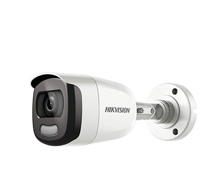 hikvision ds-2ce10dft-f 2mp bullet full time colour turbo hd camera, 3.6 mm lens and light distance 20 m (white)