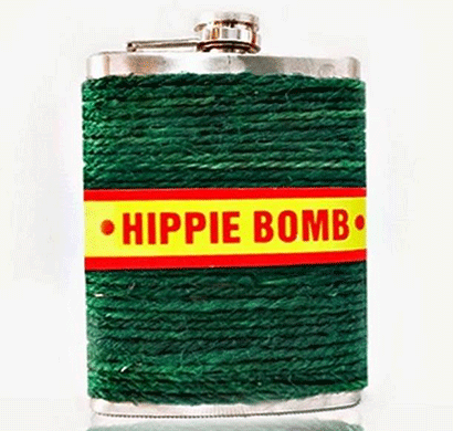 hippie bomb flask (237 ml)